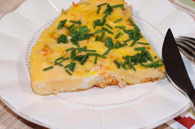 Porción de Tortilla de Calabaza y Pavo