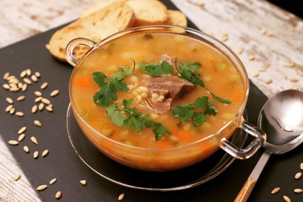 2 Sopas Caseras con Cereales y Carne