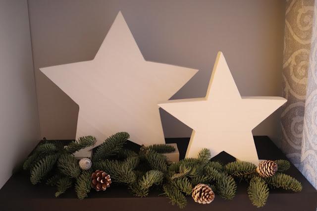 Estrellas Decorativas Grandes de Cemento