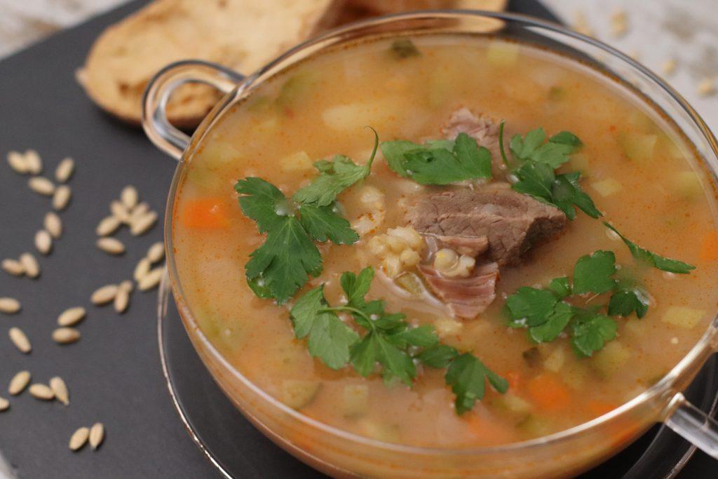 Sopa de Ternera y Cebada