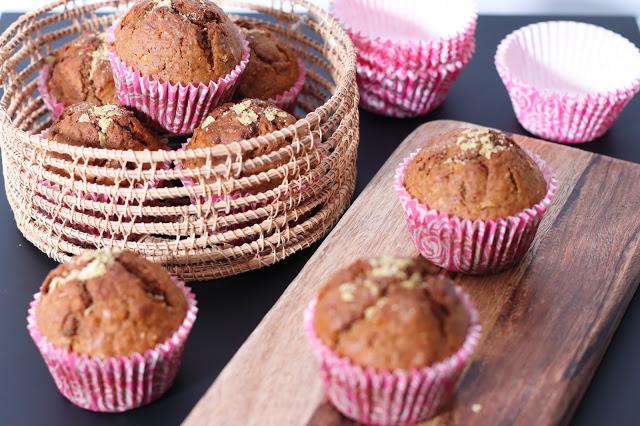 "Muffins Saludables ""Good Morning"" con Zanahoria y Manzana"
