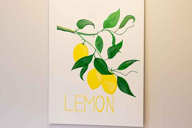 Cuadro DIY con Limones Fácil de Hacer