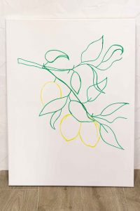 Cuadro Lemones Dibujar Contorno