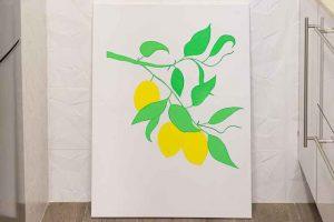 Cuadro con Limones Pintar Superficie