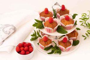Muffins con Harina de Maíz, Limón y Frambuesa