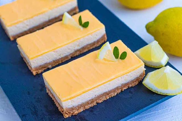 chesecake de limon con ricotta preparado