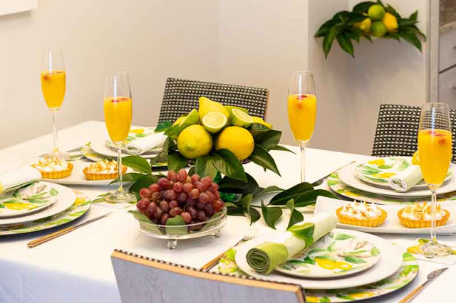 Brunch y Decoración de Mesa con Limones