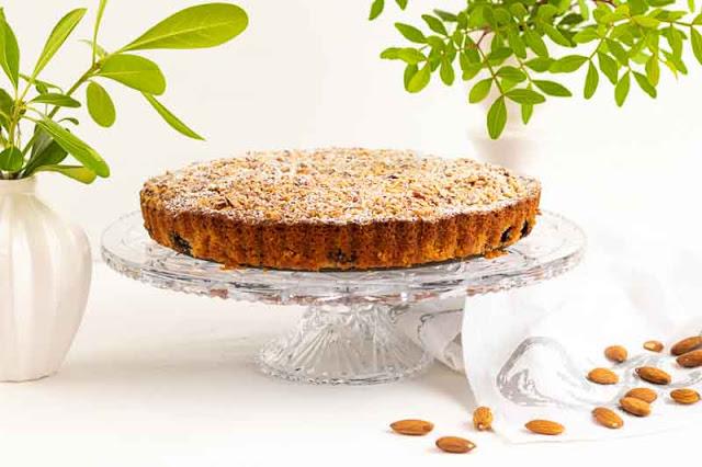 Receta de Tarta de Almendras y Arándanos