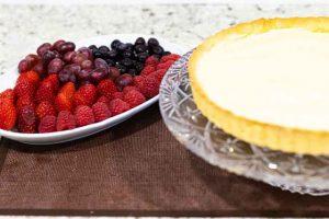 Tarta con Crema Pastelera Poner Frutas