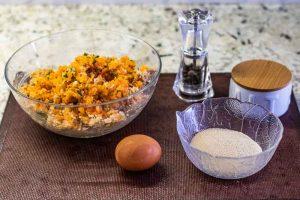 agregar sal y especias a la soja