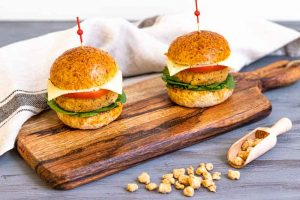 hamburguesas de soja texturizada