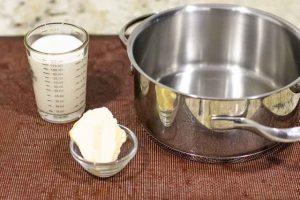 hervir mantequilla para relleno de tarta de coco