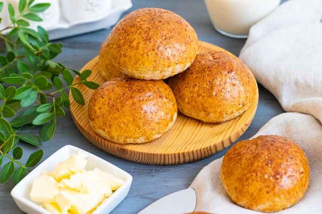 receta de bollos caseros con harina integral