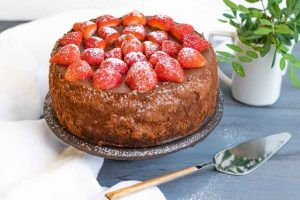 cheesecake de chocolate negro con ricotta