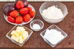 crumble con fresas preparar ingredientes
