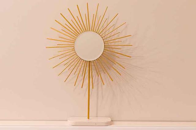 decoracion en forma de sol terminada
