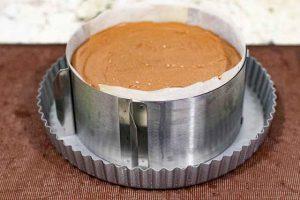 hornear cheesecake de chocolate con ricotta