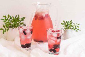 limonada rosada con te de rosa mosqueta