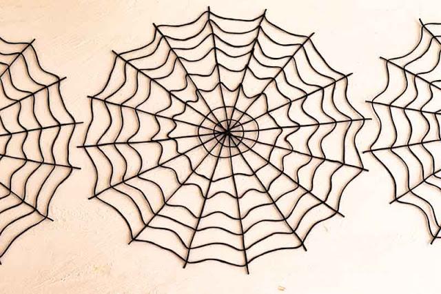 manteles individuales en forma de tela de arana