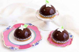 mousse de chocolate y cafe con galleta