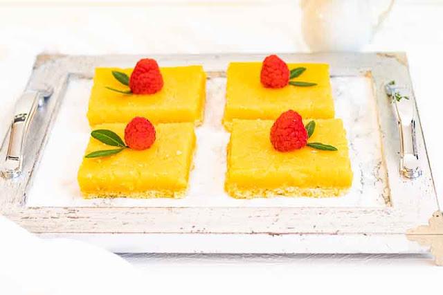 pastelitos de limon y naranja preparados