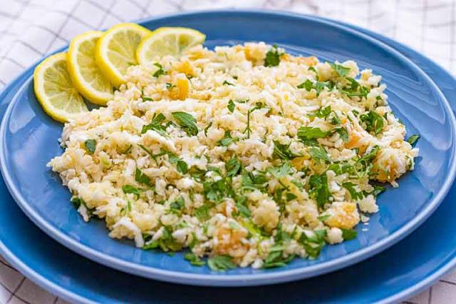 receta de tabule con quinoa y coliflor