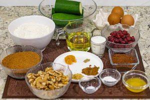 pastel con calabacin preparar ingredientes