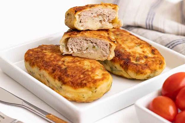receta de bollos de patata rellenos con carne