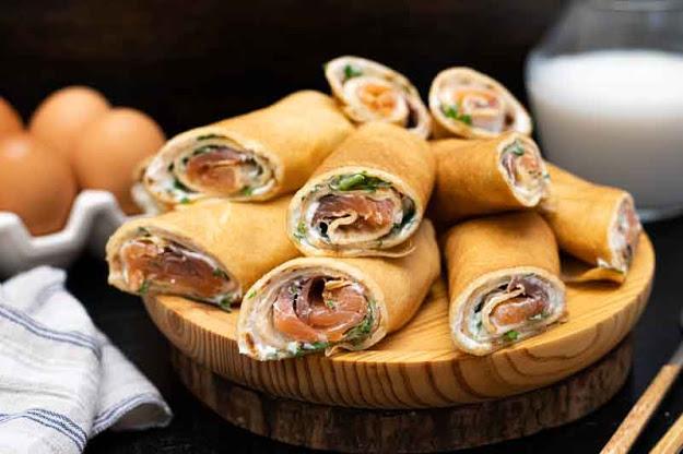 receta de crepes rellenos de salmon y queso