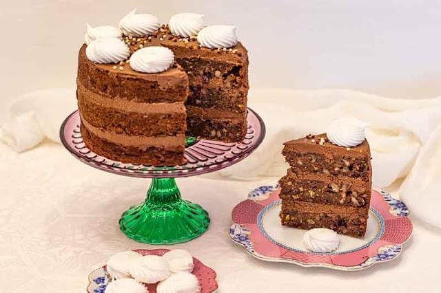 receta de pastel con calabacin nueces y arandanos