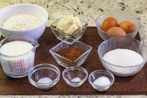 bizcocho marmolado preparar ingredientes
