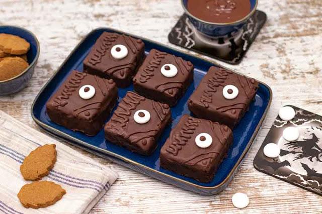 brownies de chocolate negro preparados