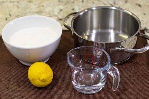 calabaza confitada mezclar agua y zumo