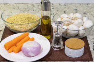 paella con trigo tierno preparar ingredientes