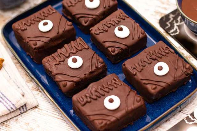 receta de brownies de chocolate negro