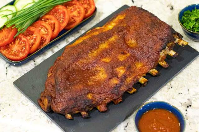 receta de costillas con salsa barbacoa