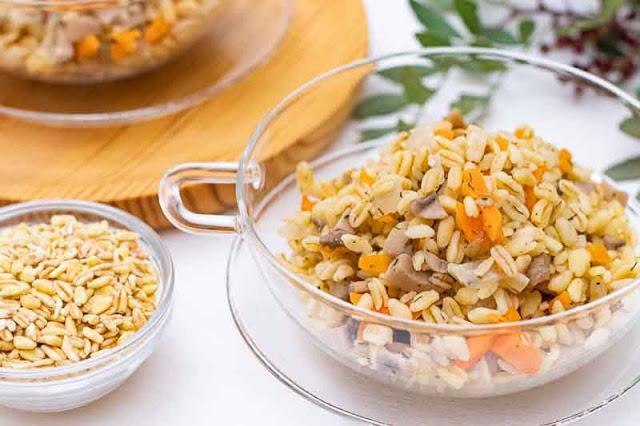 receta de paella de trigo tierno y champinones