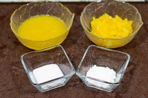 cupcakes de chocolate rellenos pelar naranja