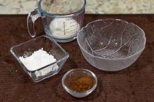 pastel forma arbol navidad mezclar cacao