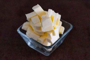 pastel forma arbol navidad mezclar mantequilla