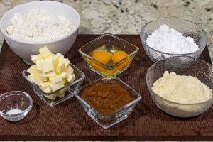 pastel forma arbol navidad preparar ingredientes