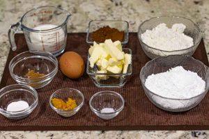 preparar ingredientes para cupcakes de chocolate rellenos