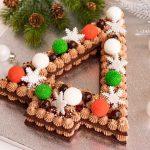 receta de pastel en forma de arbol de navidad
