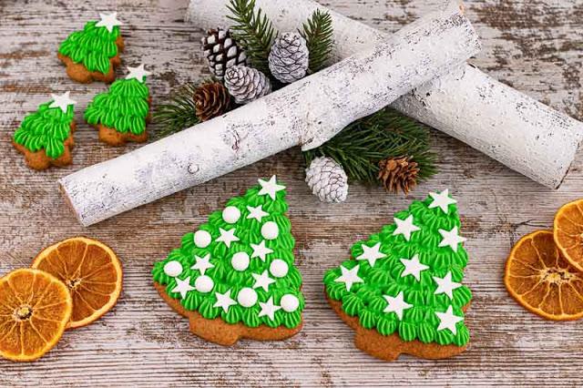 galletas de caramelo y especias preparadas