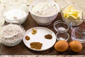 galletas de caramelo y especias preparar ingredientes