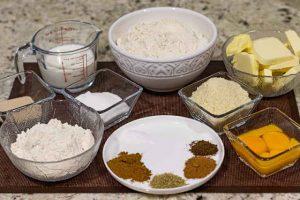stollen con naranja preparar ingredientes para masa