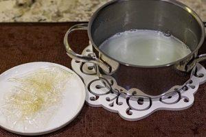 agregar gelatina a mezcla para glaseado espejo