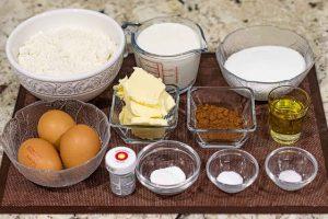 pastel de terciopelo preparar ingredientes