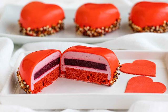 receta de pastelitos con mousse de frutos rojos