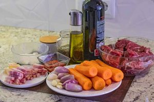 ternera bourguignon preparar ingredientes